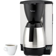 Capresso MT600 Plus 10-Cup Coffee Maker, Stainless Steel/Black