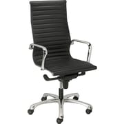 Staples® Silverio™ Bonded Leather Executive High-Back Chair, Black