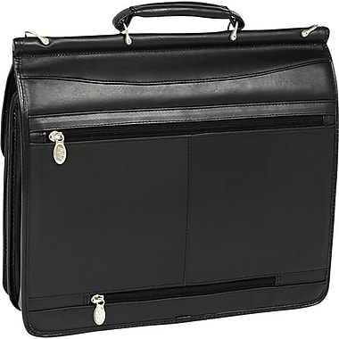 McKlein USA Halsted Leather Double Compartment Laptop Case, 15in.