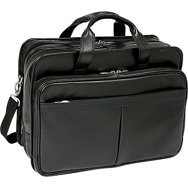 McKlein USA Walton Leather Expandable Laptop Case , 17in.