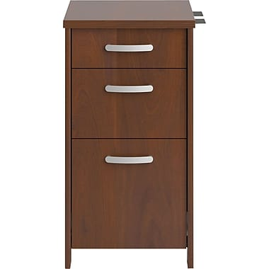 Bush® Envoy 3-Drawer File,Hansen Cherry