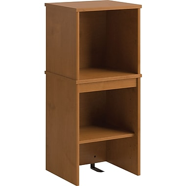 Bush Business Envoy 16W Narrow Hutch, Natural Cherry