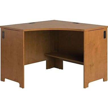 Bush® - Bureau en coin de la collection Envoy, fini cerisier naturel