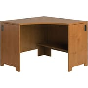 Bush® Envoy Corner Desk, Natural Cherry