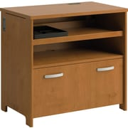Bush® Envoy Collection Technology File Cabinet, Natural Cherry Finish