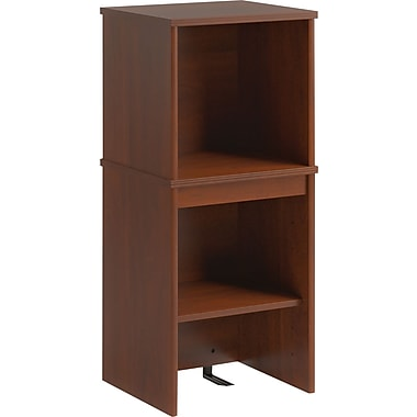 Bush Business Envoy 16W Narrow Hutch, Hansen Cherry