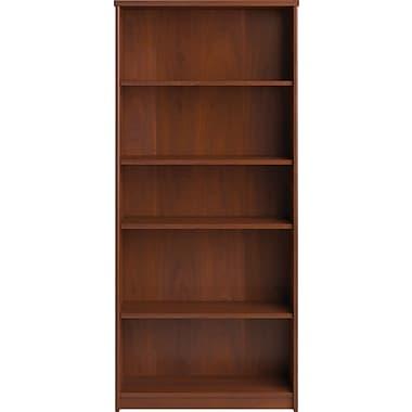 Bush® Envoy 5-Shelf Bookcase,Hansen Cherry