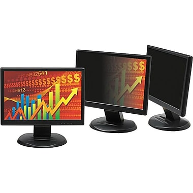 3M LCD Monitor 22in. Widescreen Privacy Computer Filter, Black