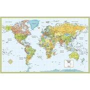 "Rand McNally Laminated World Wall Map 50"" x 32"""