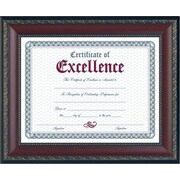 "Dax World Class Document Frame w/Certificate, Walnut, 8 1/2"" x 11"""
