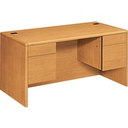 HON® 10700 Series 60 Double Pedestal Desk, Harvest