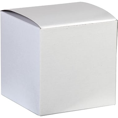 One-Piece Gift Boxes, White, 4
