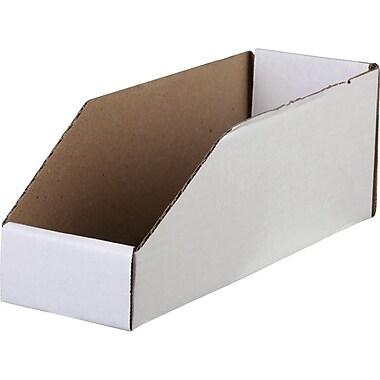 Corrugated Bin Boxes, 12in. x 4in. x 4 1/2in., 50/pack