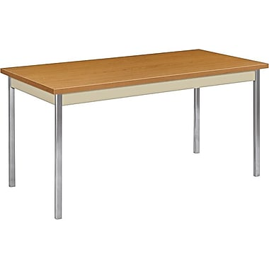 HON 5' Non-Folding Laminate Utility Table, Harvest/Putty, 30in.W