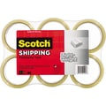 Scotch® Lightweight Packaging Tape, Clear, 1.88in. x 54.6 yds., 6/Pack
