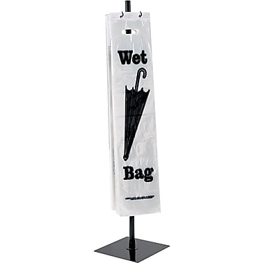 Tatco Powder Coated Steel Wet Umbrella Bag Stand , 40in.(H) x 10in. (W) x 10in.(D) , Black