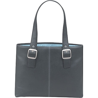 SOLO® Classic Collection Ladies Laptop Tote, Black/Blue, 16in.