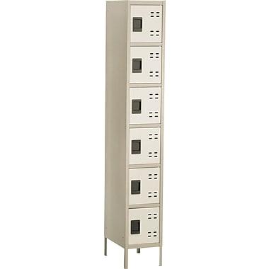 Safco® Steel Locker, Box Locker, 6-Door, Tan