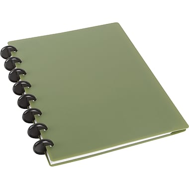 "M by Staples™ Arc Customizable Durable Poly Notebook System, Green, 6 3/8"" x 8 3/4"""