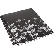 """M by Staples™ Arc Customizable Durable Poly Notebook, Black with Butterflies, 9 3/8"""" x 11 1/4"""""""