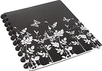 "M by Staples™ Arc Customizable Durable Poly Notebook, Black with Butterflies, 9 3/8"" x 11 1/4"""