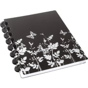 """M by Staples™ Arc Customizable Durable Poly Notebooks, Black with Butterflies, 6 3/8"""" x 8 3/4"""""""
