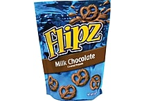 Flipz® Milk Chocolate Covered Pretzels, 5 oz. Bags, 6 Bags/Box