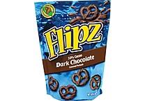 Flipz® Dark Chocolate Covered Pretzels, 4 oz. Bags, 6 Bags/Box