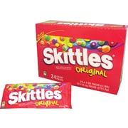 Skittles® Original Fruit Flavored Candy King Size, 4 oz. Bags, 24 Bags/Box