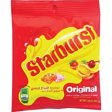Starburst® Original Fruit Chews Candy Peg Bag, 7 oz. Bags, 12 Bags/Box