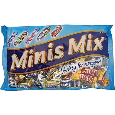 Mars® Assorted Miniatures, 17.5 oz. Bags, 12 Bags/Box