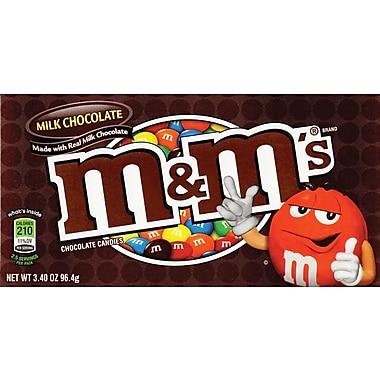M&M's® Milk Chocolate Candies Concession Box, 3.4 oz. Bags 12 Packs/Box