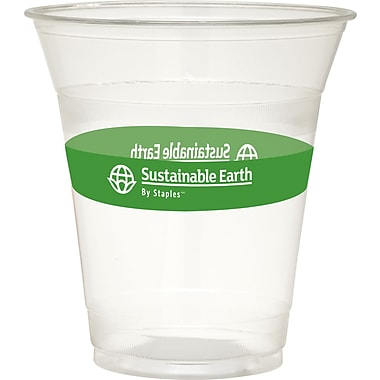 Sustainable Earth By Staples® Compostable Cold Cups and Lids