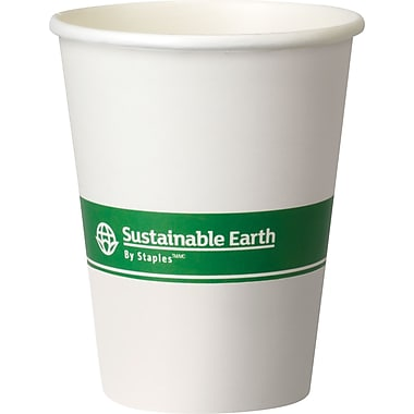 Sustainable Earth By Staples® Compostable Hot Cups, 12 oz., 500/Case
