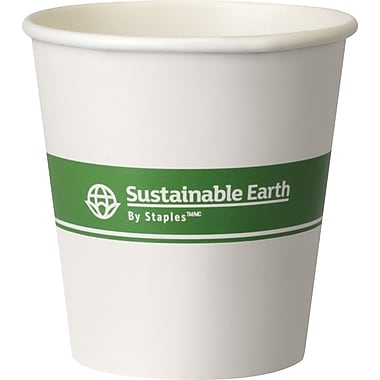 Sustainable Earth By Staples® Compostable Hot Cups, 10 oz., 500/Case