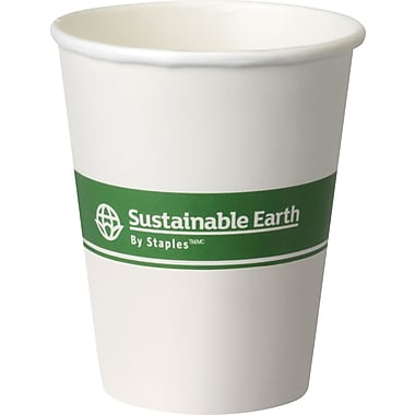 Sustainable Earth By Staples® Compostable Hot Cups, 8 oz., 500/Case