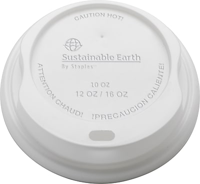 Sustainable Earth By Staples Compostable Hot Cup Lids 1932533