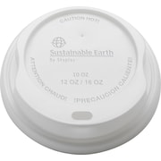 Sustainable Earth By Staples® Compostable Hot Cup Lids, 10-16 oz., 500/Case