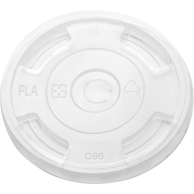 Sustainable Earth By Staples® Compostable Cold 12-16 oz. Lids, 500/Case