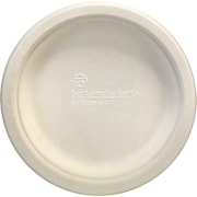 "Staples Sustainable Earth 6"" White Compostable Plates, 50/Pack (SEB40134-CC)"