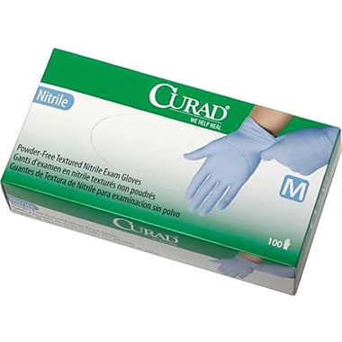 Curad® Nitrile Powder-Free Exam Gloves, Extra Large, 1000/Case