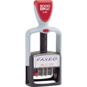 "2000 PLUS® Self-Inking Two-Color Dater, ""Faxed"""