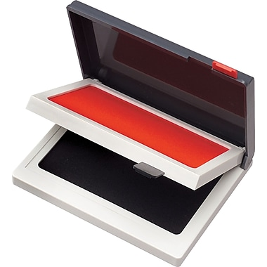 Cosco Two-Color Felt Stamp Pads, Red/Black, 2in. x 4in.