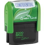 2000PLUS Green Line Self inking Stamp, Confidential, Blue Ink by
