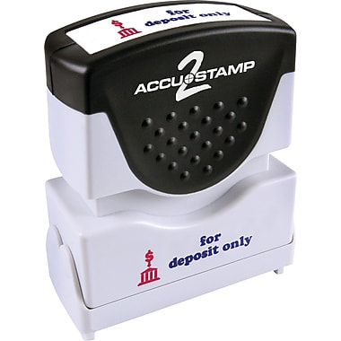 Accu-Stamp® Two-Color Shutter Stamps, in.FOR DEPOSIT ONLYin. with Microban Protection
