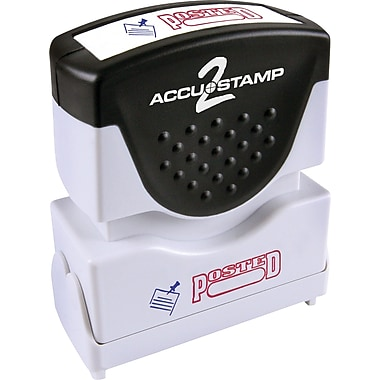 Accu-Stamp® Two-Color Shutter Stamps, in.POSTEDin. with Microban Protection