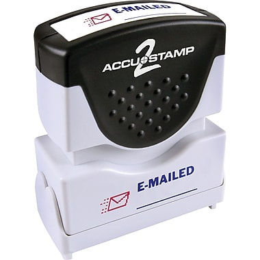 Accu-Stamp® Two-Color Shutter Stamps, in.E-MAILEDin. with Microban Protection