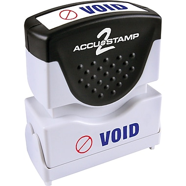 Accu-Stamp® Two-Color Shutter Stamps, in.VOIDin. with Microban Protection