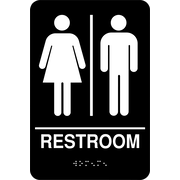 "Cosco® ADA Restroom Sign, Unisex, 6"" x 9"""