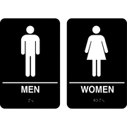 Marking Products, Inc., ADA Restroom Signs, Men/Women Sign
